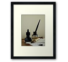 Tools of the writing craft Framed Print