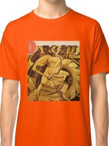 bread for us cccp sssr soviet union political propaganda revolution poster sculpture Classic T-Shirt