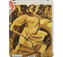 bread for us cccp sssr soviet union political propaganda revolution poster sculpture iPad Case/Skin