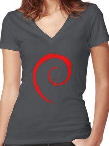 DEBIAN ULTIMATE Women's Fitted V-Neck T-Shirt