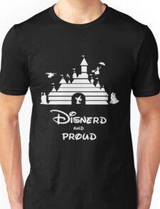 Disnerd and Proud (white) Unisex T-Shirt
