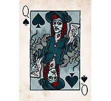 Ellen Hutter, Vampire Queen of Spades Photographic Print