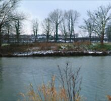 Winter River Mole Panoramic by Eyeswide