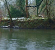 Stepping Stones River Mole Winter Panoramic by Eyeswide