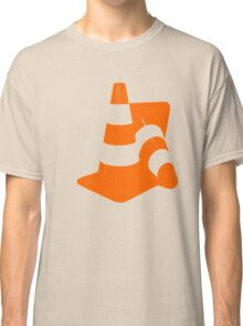 Traffic cones two safety pylons markers Classic T-Shirt