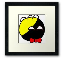 Anarchyball ancap with red bow tie sticker tucker nerd geek funny geeky Framed Print