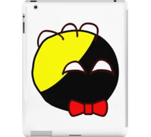 Anarchyball ancap with red bow tie sticker tucker nerd geek funny geeky iPad Case/Skin