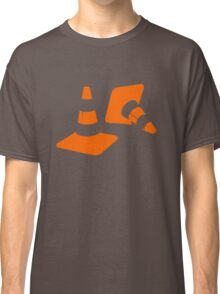 Traffic road cones safety pylons Whitc hat markers 2 Classic T-Shirt