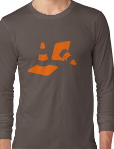 Traffic road cones safety pylons Whitc hat markers 2 Long Sleeve T-Shirt