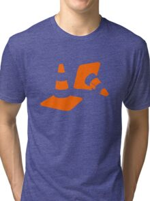 Traffic road cones safety pylons Whitc hat markers 2 Tri-blend T-Shirt