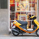 Orange Vespa by Christine  Wilson