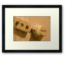 Guitar Volume Framed Print