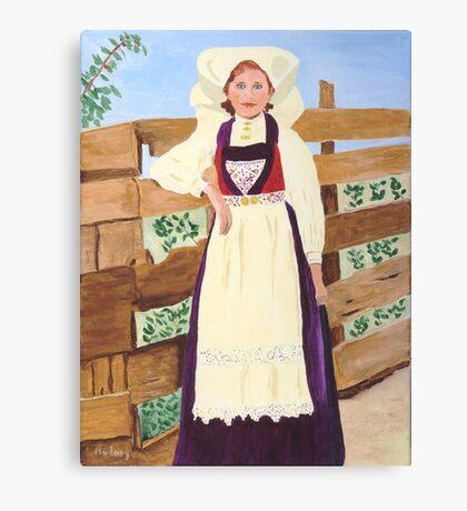 Hardanger Girl Canvas Print