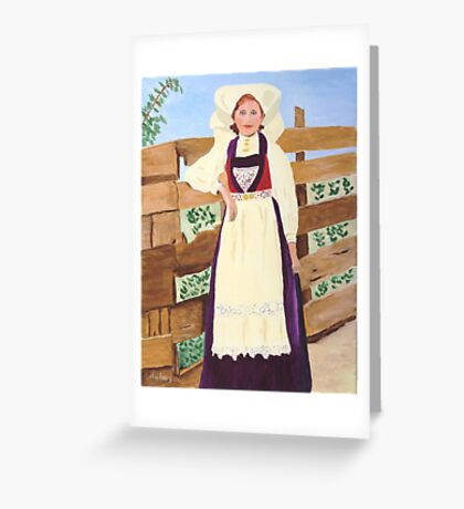 Hardanger Girl Greeting Card