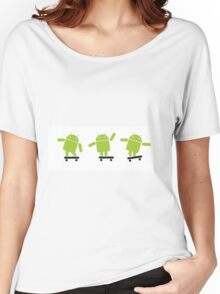 ANDROID EXPLORER Women's Relaxed Fit T-Shirt