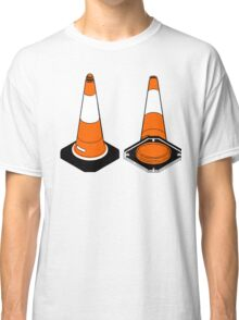 orange and black Traffic cones safety pylons Classic T-Shirt