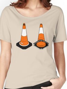 orange and black Traffic cones safety pylons Women's Relaxed Fit T-Shirt
