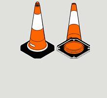 orange and black Traffic cones safety pylons Unisex T-Shirt