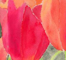 Orange And Red Tulips Sticker