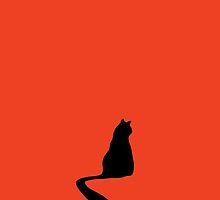 Silhouette of a cat by Sofia Wrangsjo