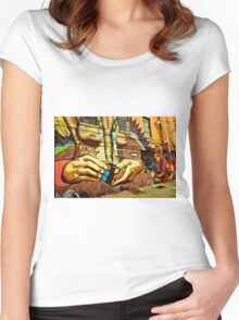 Idol Hands Women's Fitted Scoop T-Shirt
