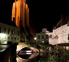 Brugge at night (Belgium) by Antanas