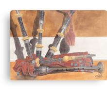 Highland Pipes Metal Print