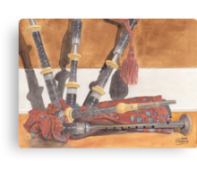 Highland Pipes Canvas Print