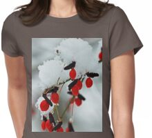 Snowy Red Fruit Womens Fitted T-Shirt