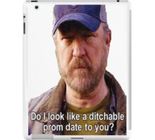 Supernatural - Bobby Singer - Do I Look Like A Ditchable Prom Date To You? iPad Case/Skin