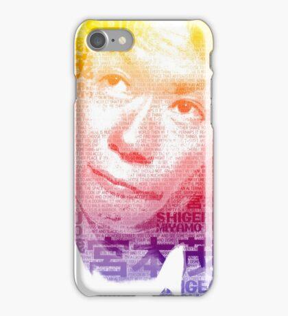 Nintendo Shigeru Miyamoto Poster iPhone Case/Skin