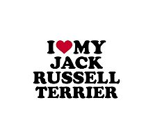 I love my Jack Russell Terrier Photographic Print
