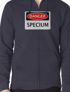 DANGER SPECIUM FAKE ELEMENT FUNNY SAFETY SIGN SIGNAGE T-Shirt