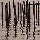 Reflected Poles at Sunrise by JGetsinger