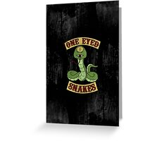 One Eyed Snakes Greeting Card