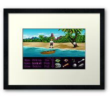 Finally on Monkey Island (Monkey Island 1) Framed Print