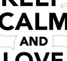 Keep calm and love Jack Russells Sticker