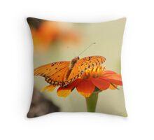 Orange on Orange Throw Pillow