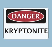 DANGER KRYPTONITE FAKE ELEMENT FUNNY SAFETY SIGN SIGNAGE Kids Clothes