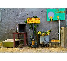 Sunflowers for sale Photographic Print
