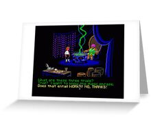Asking about the Three Trials (Monkey Island 1) Greeting Card