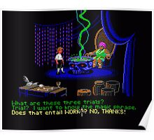 Asking about the Three Trials (Monkey Island 1) Poster