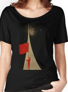 all the way up to the stars  - soviet union propaganda Women's Relaxed Fit T-Shirt