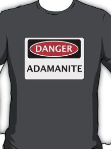 DANGER ADAMANITE FAKE ELEMENT FUNNY SAFETY SIGN SIGNAGE T-Shirt