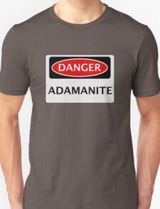 DANGER ADAMANITE FAKE ELEMENT FUNNY SAFETY SIGN SIGNAGE Unisex T-Shirt
