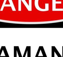 DANGER ADAMANITE FAKE ELEMENT FUNNY SAFETY SIGN SIGNAGE Sticker