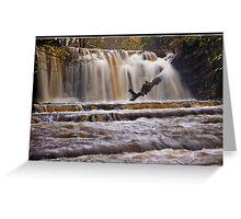 Scarloom Waterfall in spate Greeting Card