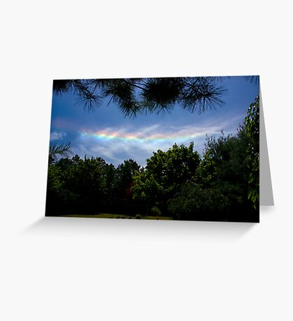 I Do Set My Bow in the Cloud. Greeting Card