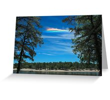 CHA over Harry Wright Lake Greeting Card