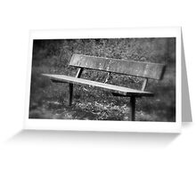 A Seat For Contemplation Greeting Card